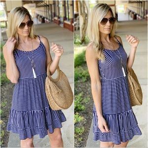✨LAST ONE✨Navy striped cami dress
